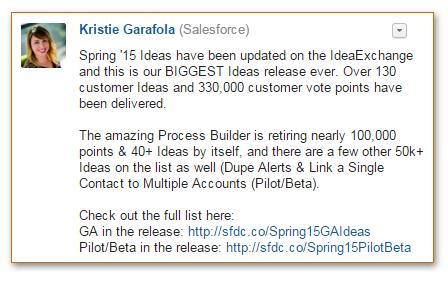 Salesforce Spring 2015