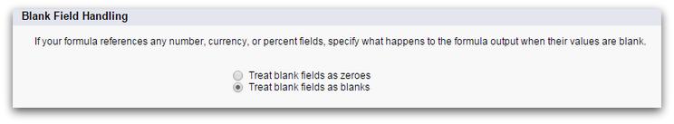 Blank Field Handling