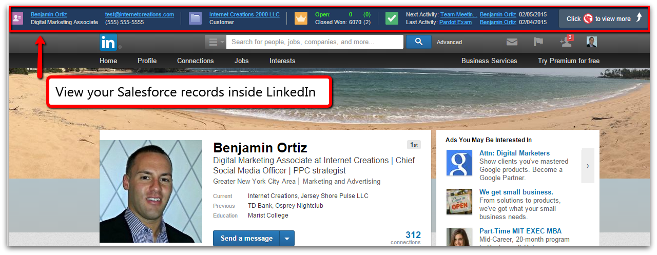 Free LinkedIn Integration for Salesforce