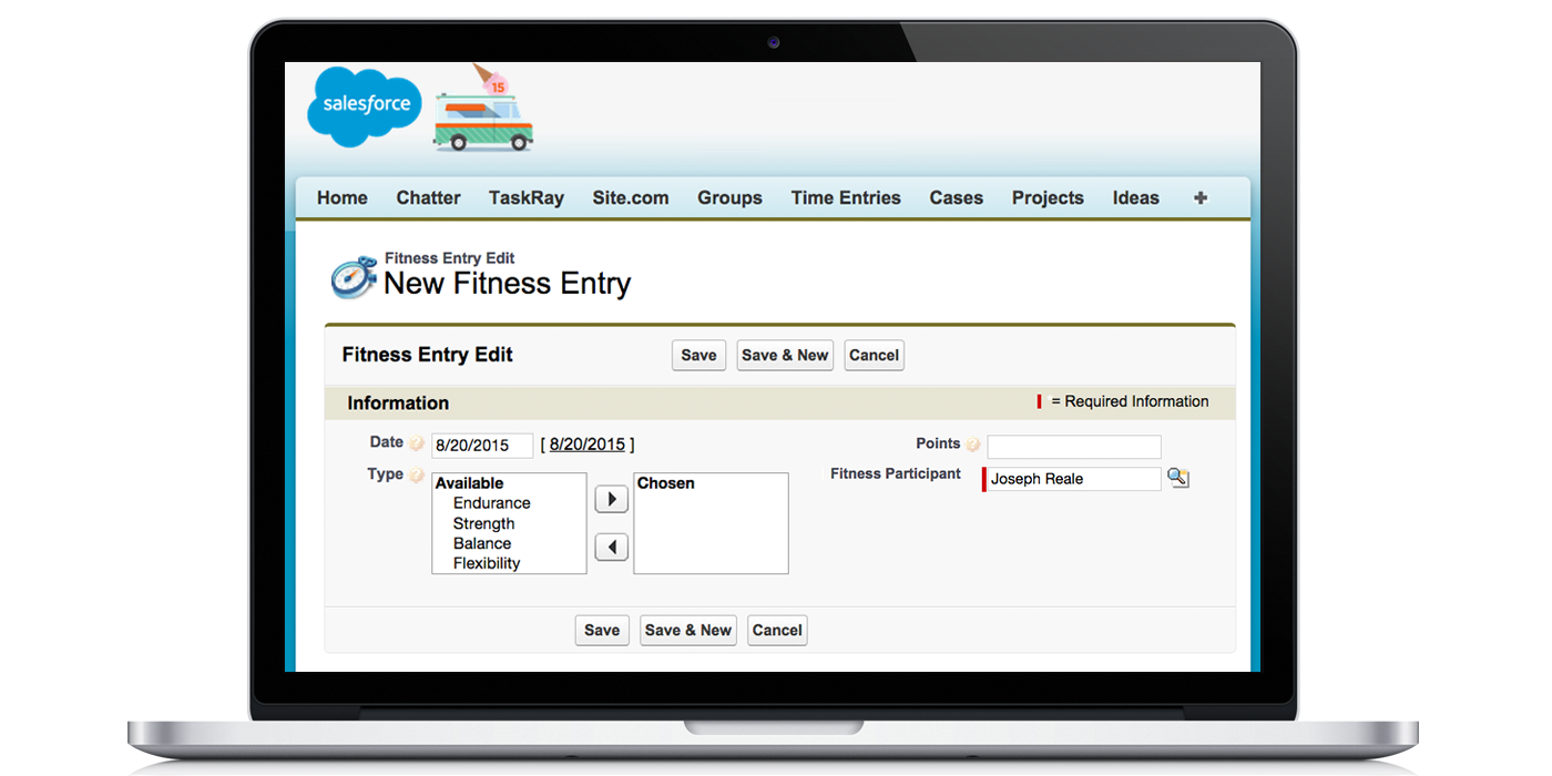 How Internet Creations Uses Salesforce to Track Fitness App Screenshot