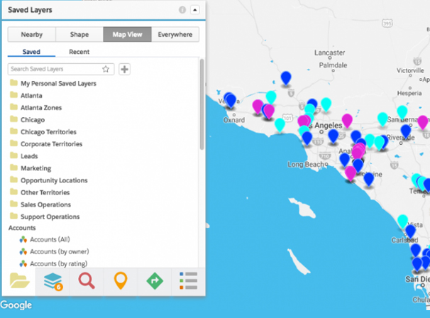 Geopointe Map of Salesforce Data