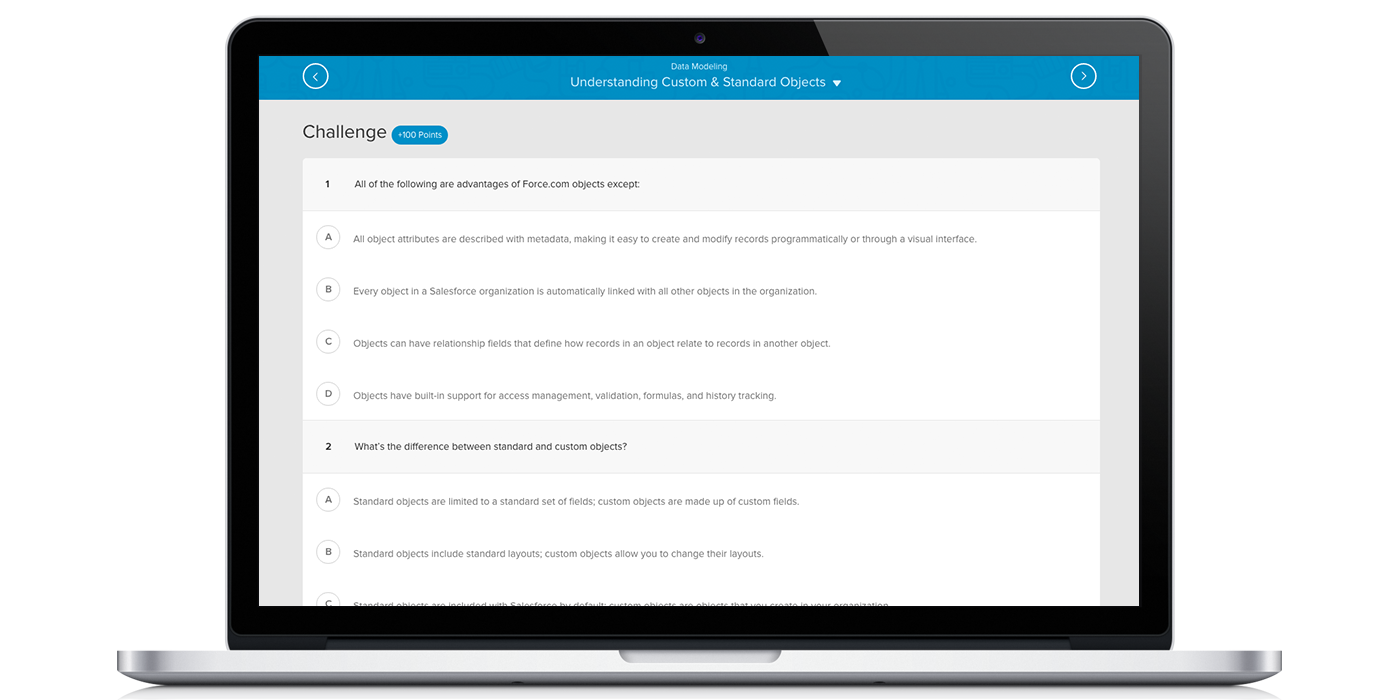 Trailhead - Data Modeling Challenges Screenshot