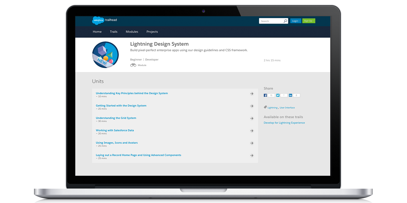 lightning design system modules