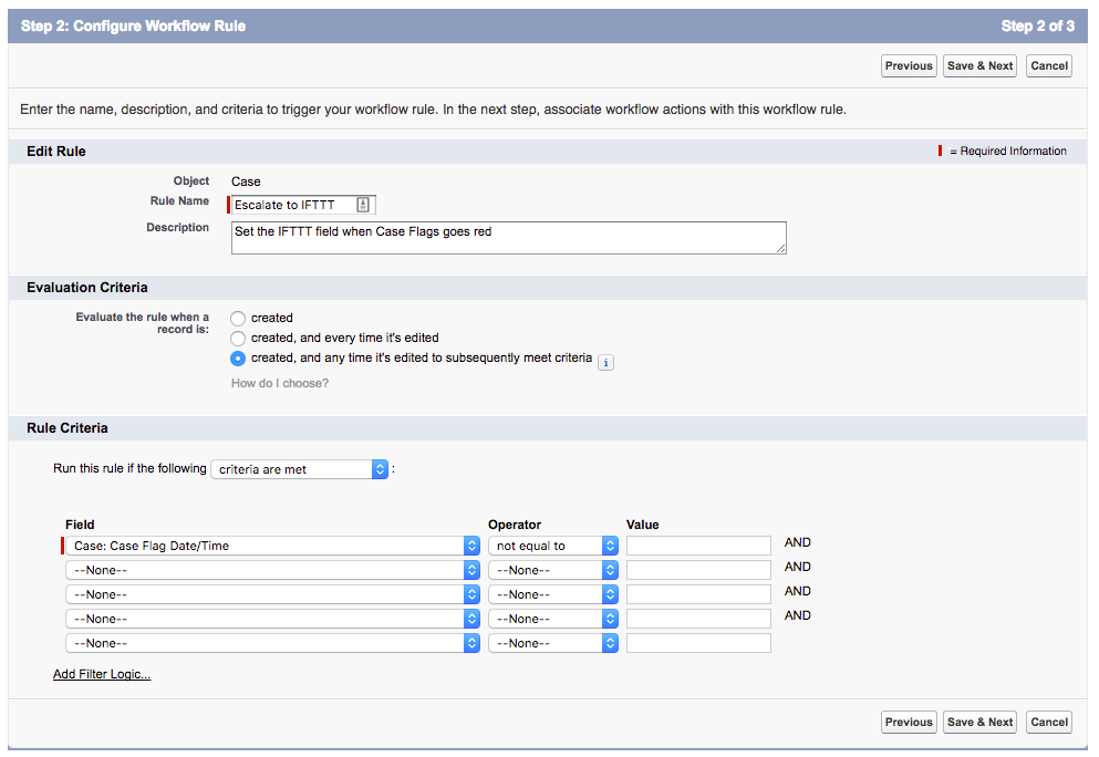 Configure Workflow to Escalate