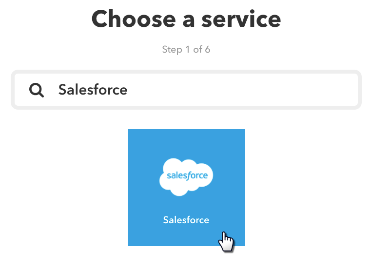 Choose Service Salesforce