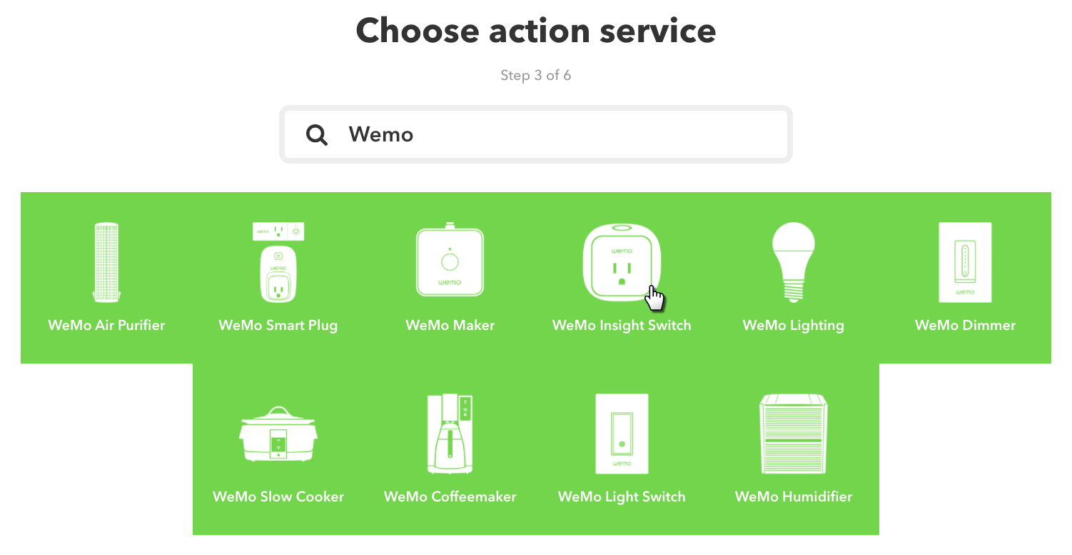Choose Wemo Service